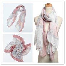 Women Long Print Voile Scarf Wrap Ladies Shawl Girls Large Scarves
