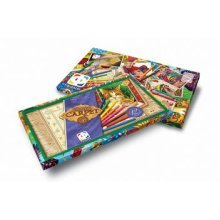 Red Cats Carpet Painting Set - Elf797052 Josephin -  elf797052 josephin carpet painting red  cats