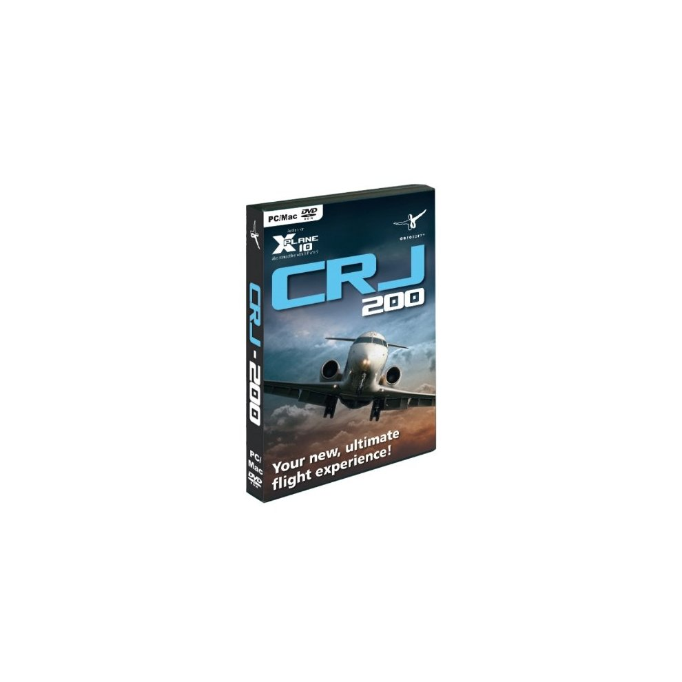 Canadair Regional Jet CRJ-200 - Addon for X-Plane 10 (PC DVD) (New)