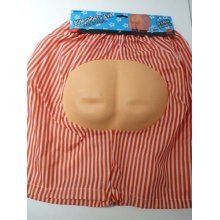Mens Novelty Naked Bum Shorts -  bum shorts fancy dress stag accessory costume mens night eva party adult
