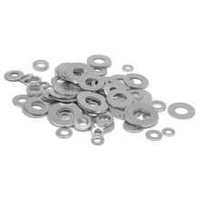 M4-M14 Round Washer Metal Screw Zinc Plated Steel Gasket Ultra-Thin