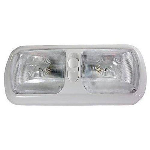Arcon ARC-18124 Euro Double Light with Optical Lens & White Base