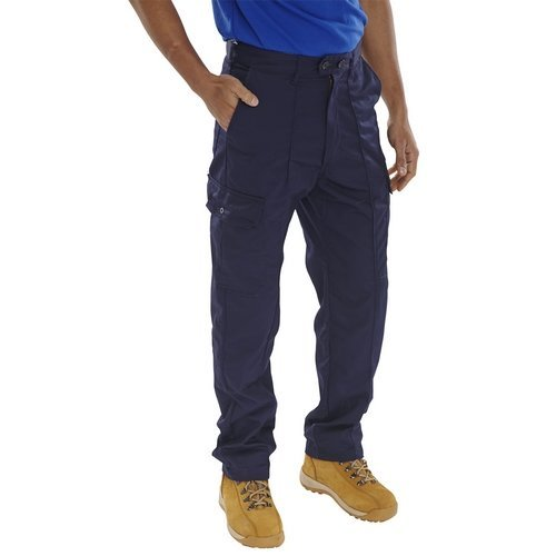 "Click PCTHWN30T Super Polycotton Work Trousers Navy Blue 30"" Long"