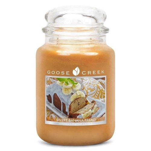 Goose Creek 24oz Large Scented 2 Wick Candle Jar Sweet Banana Bread