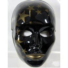 Mask Face Theatre Black Closed Mouth