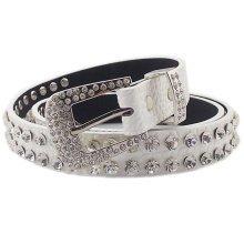 Women Fashion Belt Dress Decorative Belt Synthetic Quartz Belt [WHITE]
