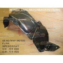Honda Civic 2001-2005 Front Wing Arch Liner Splashguard Right O/s