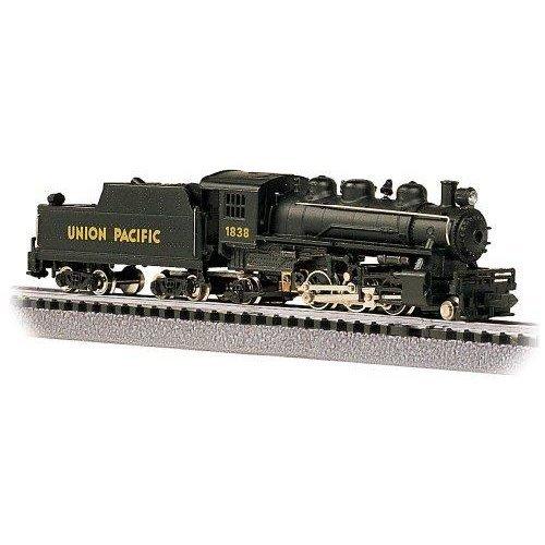 Bachmann Industries #1838 Prairie 2-6-2 Locomotive and Tender U.P. Train Car, N Scale