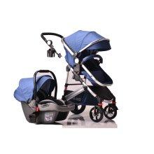 3 in 1 New Baby Pram Car Seat Pushchair Travel System Buggy Stroller