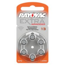 Rayovac Hearing Aid Batteries- Extra Advanced 13 -  rayovac 13 hearing aid batteries extra pr48 battery zinc air advanced orange amount your choice 6