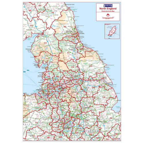 Postcode Area Map 3 - Northern England