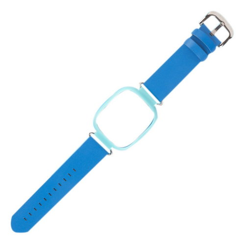 Quick Release Original Imitation Leather Child Watch Band Smart Watch Strap Blue