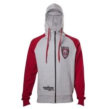 Guardians Of The Galaxy 2 Drax Hooded Zip Mottled Light Grey / Red Small Size