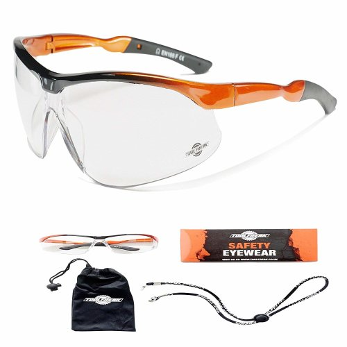 ToolFreak-Agent Safety Glasses With Maximum UV Protection For Men & Women | Anti-Fog and Anti Scratch Reduction Coating | Lenses With Curved Frame...