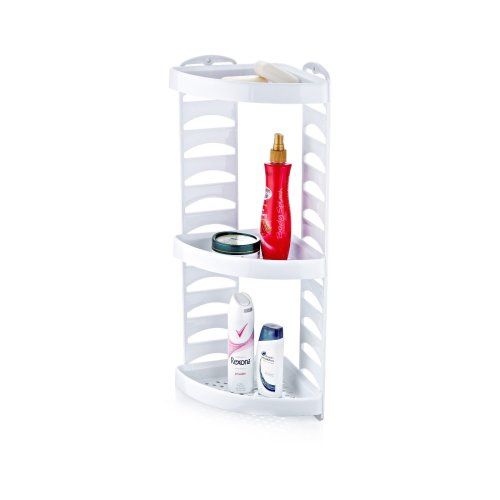 Triple Plastic Shower Caddy | 3-Tier Corner Bath Shelf