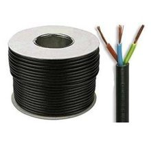 Black 3183Y 3 Core 1.0mm 10 Amp PVC Flexible Cable Cut To Length Flex (100 Meters)