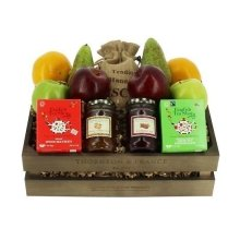 Fruit Gift Box with Jams and Tea